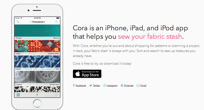 cora fabric app